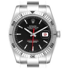 Rolex Datejust Turnograph Red Hand Steel Men's Watch 116264