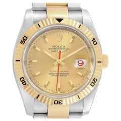 Rolex Datejust Turnograph Steel Yellow Gold Men's Watch 116263