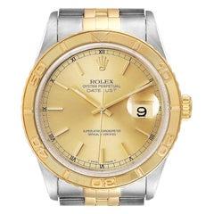 Rolex Datejust Turnograph Steel Yellow Gold Men's Watch 16263