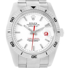 Rolex Datejust Turnograph White Dial Men's Watch 116264 Box Papers