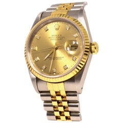 Rolex Datejust Two-Tone 16233 Champagne Dial