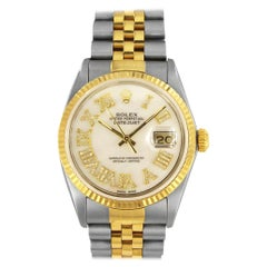 Rolex Datejust Two-Tone Mother of Pearl Roman Numerals Watch 16233