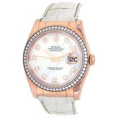 Rolex Datejust 'V Serial' 18 Karat Rose Gold Automatic Ladies Watch 116185