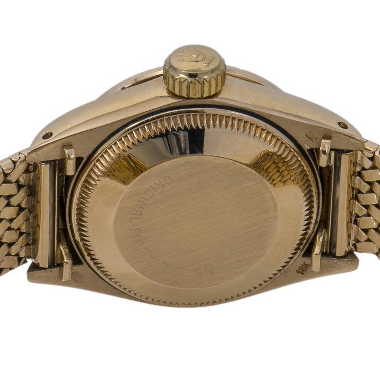 Women's Rolex Datejust Vintage 6900 18K Factory Diamond Year 1982 Lady's Watch For Sale