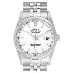 Rolex Datejust White Dial Jubilee Bracelet Steel Men's Watch 16200