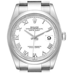 Rolex Datejust White Dial Oyster Bracelet Steel Men's Watch 126200 Box Card