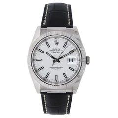 Rolex Datejust White Gold 116139 on S-Strap