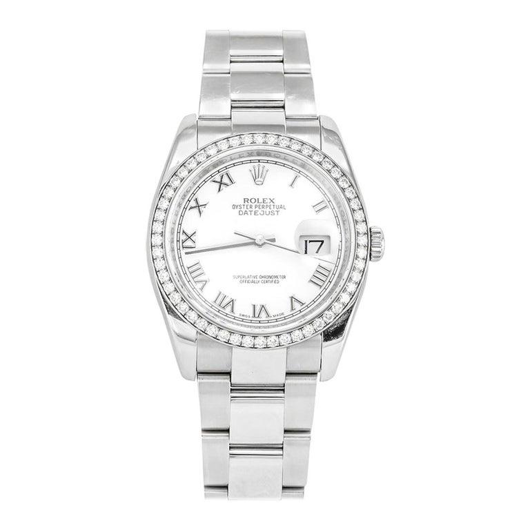 Rolex Datejust White Gold and Diamonds For Sale