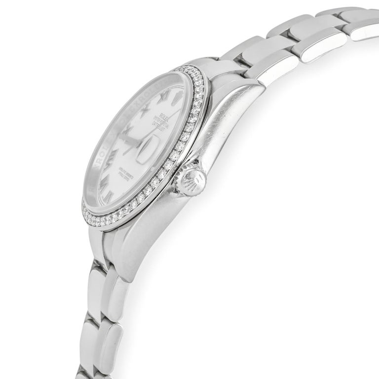 Rolex Datejust White Gold and Diamonds In Good Condition For Sale In Dallas, TX