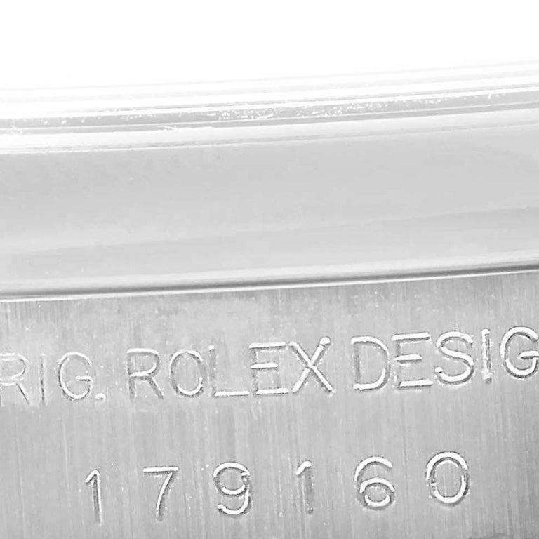Rolex Datejust White Roman Dial Oyster Bracelet Ladies Watch 179160 For Sale 3