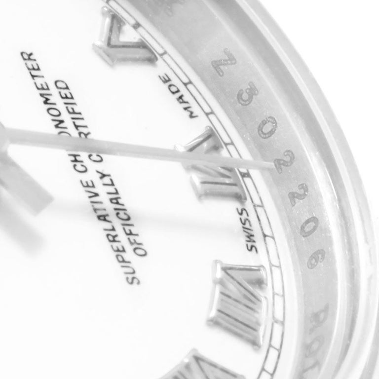 Rolex Datejust White Roman Dial Oyster Bracelet Ladies Watch 179160 For Sale 4