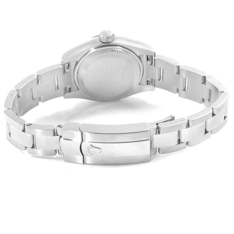 Rolex Datejust White Roman Dial Oyster Bracelet Ladies Watch 179160 For Sale 5