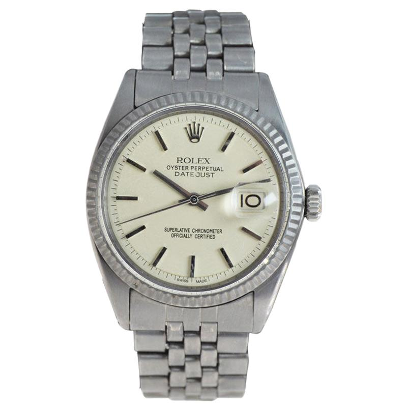 Rolex Datejust with Custom Original Dial and Carbonized Finish, Early 1970's