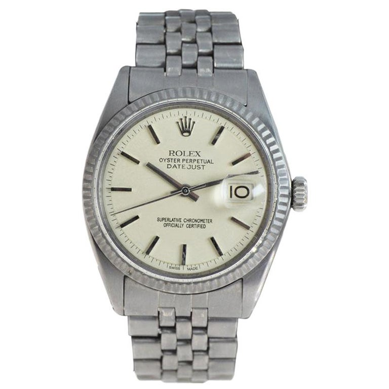 Rolex Datejust with Custom and Original Dial with Carbonized Finish 1969 or 1970 For Sale