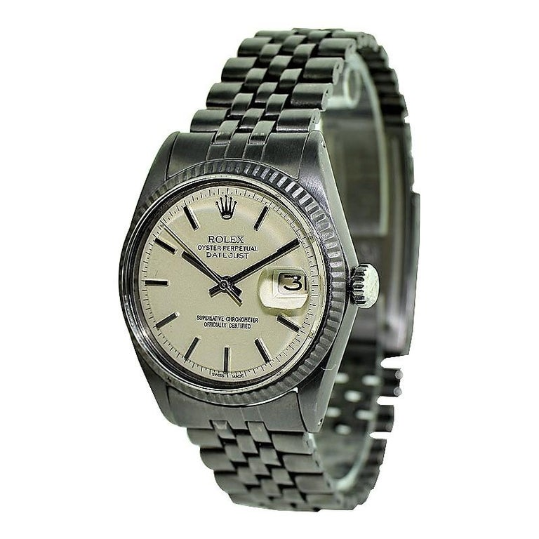 Rolex Datejust with Custom and Original Dial with Carbonized Finish 1969 or 1970 For Sale 1