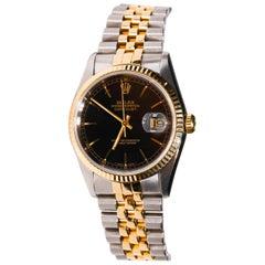 Rolex Datejust Yellow Gold Stainless Steel Jubilee Bracelet Automatic Wristwatch