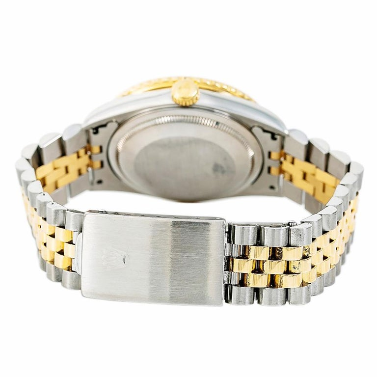 Contemporary Rolex Datejust 5292, White Dial Certified Authentic For Sale