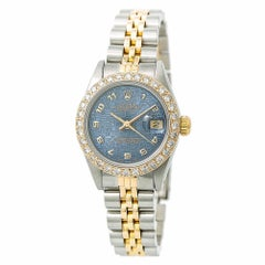 Rolex Datejust 69173, Blue Dial Certified Authentic