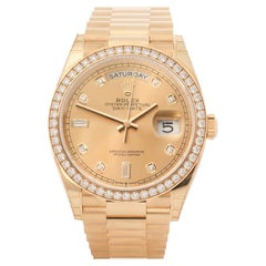 Rolex Day-Date 0 128348RBR Men Yellow Gold 0 Watch