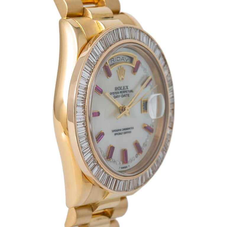 Rolex Day-Date 118208, Case, Certified and Warranty In Excellent Condition In Miami, FL