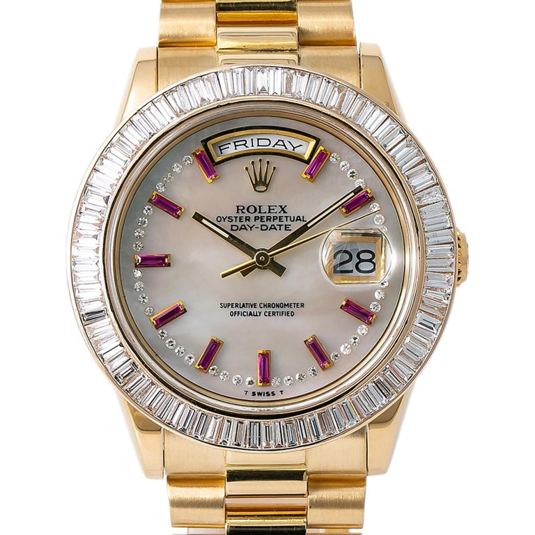 Men's Rolex Day-Date 118208, Case, Certified and Warranty