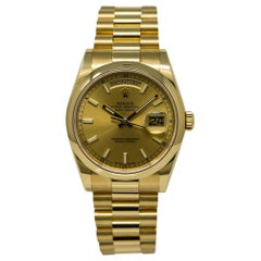 Rolex Day-Date 118208 Unworn Men's Automatic Watch 18 Kafrat with Box and Papers