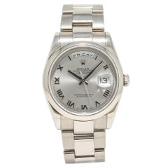 Rolex Day-Date 118209, Silver Dial, Certified and Warranty