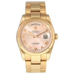 Rolex Day Date 118235 President 18 Karat Rose Gold Men's Watch Box Papers