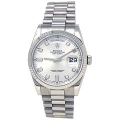 Rolex Day-Date 118239, Silver Dial, Certified and Warranty