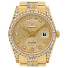 Rolex Day-Date 118388, Gold Dial, Certified and Warranty