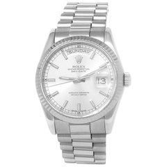 Rolex Day-Date 128239, Silver Dial, Certified and Warranty