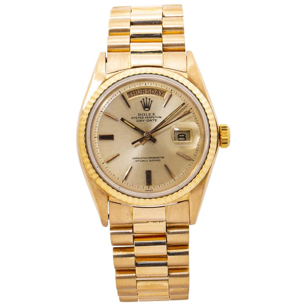 Rolex Day-Date 1803 18K Rose Gold Mens Automatic Watch