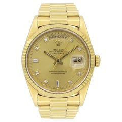 Rolex Day-Date 18038, Case, Certified and Warranty