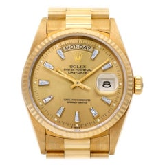 Rolex Day-Date 18038, Gold Dial, Certified and Warranty