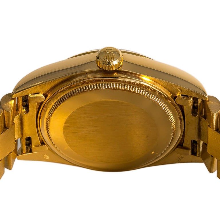 Rolex Day-Date 18038 Men's Automatic Watch Champagne Dial 18 Karat YG In Good Condition For Sale In Miami, FL