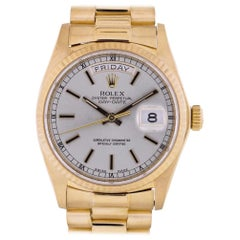 Rolex Day-Date 18038, Silver Dial, Certified and Warranty