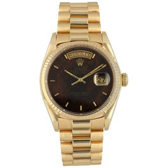 Rolex Day Date 18038 Wood Dial President Men's Watch