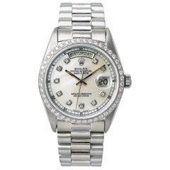 Rolex Day-Date 18039, Mother of Pearl Dial, Certified and Warranty