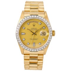 Rolex Day-Date 18048, Gold Dial, Certified and Warranty