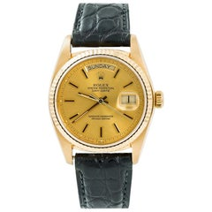 Rolex Day-Date 18078, Gold Dial, Certified and Warranty