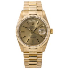 Rolex Day-Date 18078 President Tiffany Dial Spanish Date Wheel 18 Karat