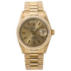 Rolex Day-Date 18078 President Tiffany Dial Spanish Date Wheel 18k
