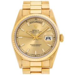 Rolex Day-Date 18238 18 Karat Gold Dial Automatic Watch