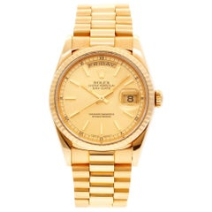 Rolex Day-Date 18238, Gold Dial, Certified and Warranty