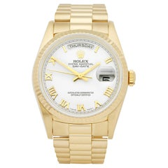 Rolex Day-Date 18238 Unisex Yellow Gold Watch