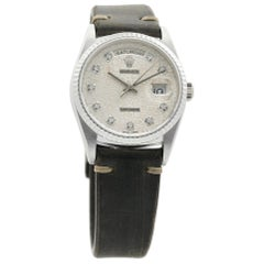 Rolex Day-Date 18239, Silver Dial, Certified and Warranty