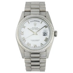 Rolex Day-Date 18239 White Gold Men's Watch Box and Papers