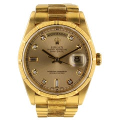 Rolex Day-Date 18248, Gold Dial, Certified and Warranty