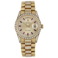 Rolex Day Date 18388 Yellow Gold Diamond Men's Watch