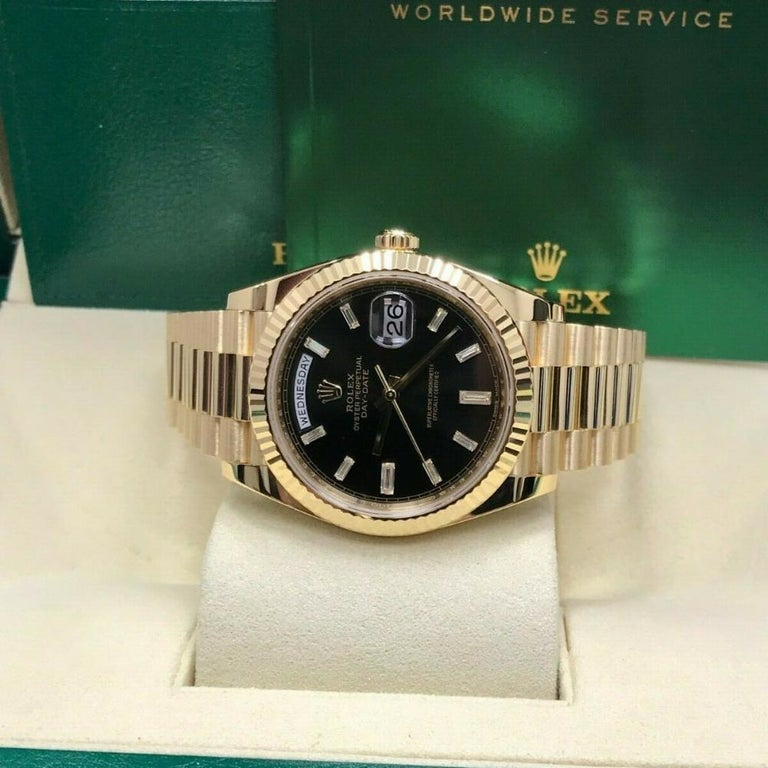 Contemporary Rolex Day-Date 228238, Certified and Warranty